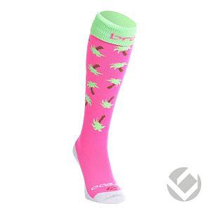 Brabo Socks Palms Roze-Lime Groen