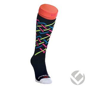 Brabo Socks Stripes zwart-neon